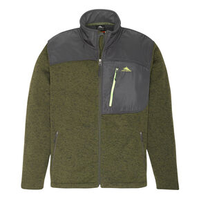 High Sierra Men's Funston II  Full Zip Jacket in the color Moss/ Mercury.