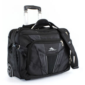 High Sierra XBT Wheeled Messenger in the color Black.