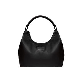 Lipault Lady Plume Hobo Bag (M) in the color Black.