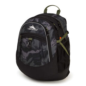 High Sierra Fat Boy Backpack in the color Kamo/Black/Moss.