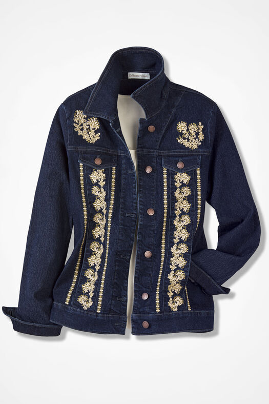 Embroidered denim jacket coldwater creek