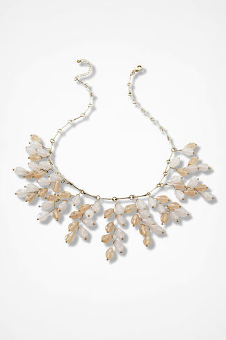 Cascading Droplets Necklace, Natural, large