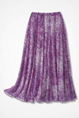 Meadowprint Mesh Knit Skirt, Boysenberry, large