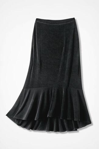 Destinations Flounced Skirt, Black, large