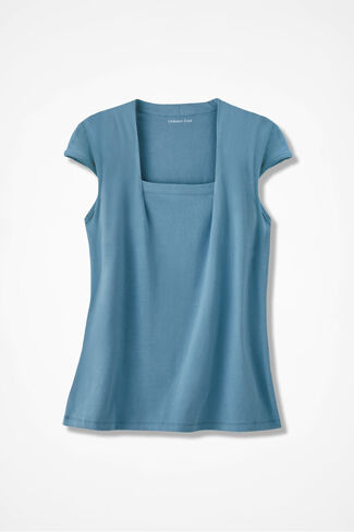 Anytime Square Neck Tank, Lagoon, large