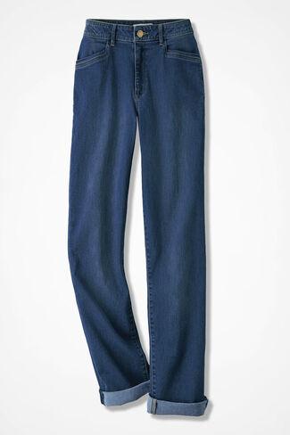 Boyfriend Jeans, Medium Wash, large