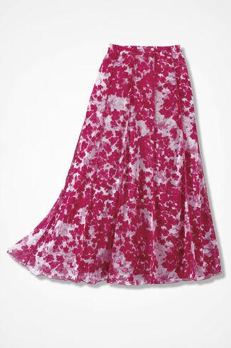 Watercolor Mesh Knit Skirt, Raspberry, large