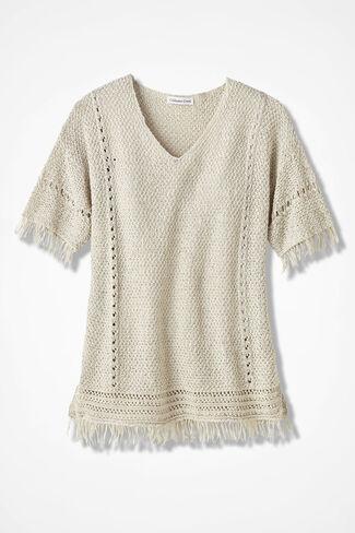 Fringe Delight Sweater, Birch, large