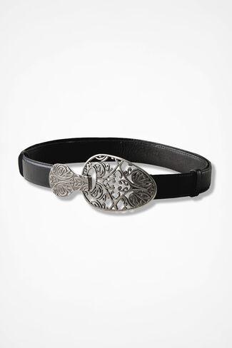 Guinevere Filigree Belt, Black, large