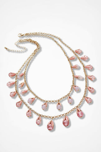 Tulip Drops Necklace, Pink Multi, large