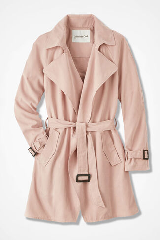 The Draped Trench Coat, Dusty Blush, large