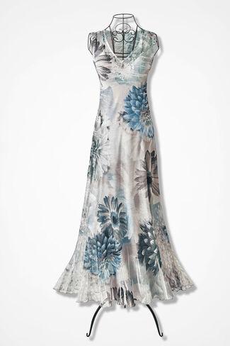 Fountain Bloom Dress by Komarov, Lagoon, large