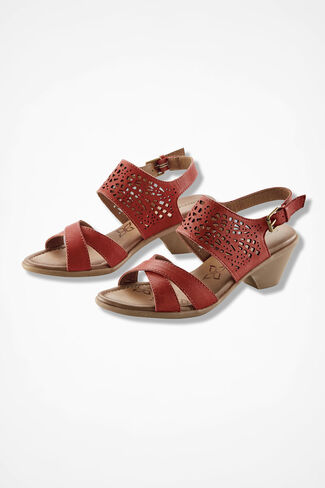 """""""Faith"""" Sandals by Comfortiva®, Persimmon, large"""