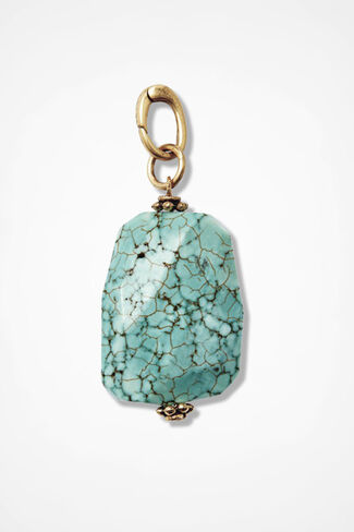 Semi-Precious Pendant, Turquoise, large