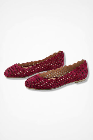 """""""Carlee"""" Flats by Me Too®, Red, large"""