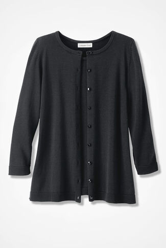 NEW Classic Cardigan, Black, large