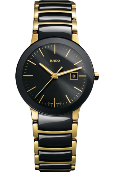 Centrix Small Yellow SS Brac Black Dial