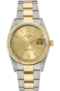 18K Yellow Gold and Stainless Steel Date Automatic