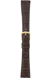 17 mm Brown Alligator Strap