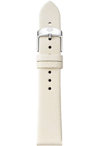 18MM Natural White Thin Saffiano Strap