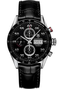 Carrera Automatic Chronograph 43 mm with Black Aluminum