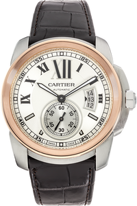 18K Rose Gold and Stainless Steel Calibre de Cartier Automatic