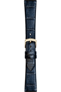 17 mm Black Alligator Strap