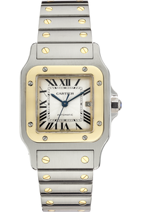 18K Yellow Gold and Stainless Steel Santos Galbee Automatic