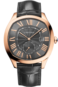 Drive de Cartier Watch in Pink Gold with Black Dial