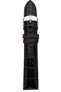 18MM Espresso Alligator Strap