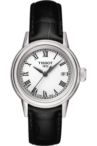 Carson Ladies Quartz Classic Watch with Black leather strap
