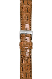22 mm Tan Crocodile Strap