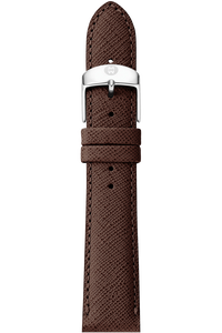 18MM Brown Saffiano Leather Strap