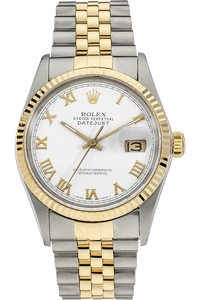18K Yellow Gold and Stainless Steel Datejust Automatic Circa 1986