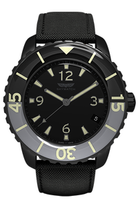 44 mm 3-hand Black IP