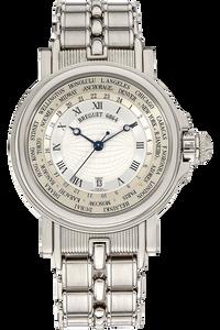 18K White Gold Marine Hora Mundi Automatic