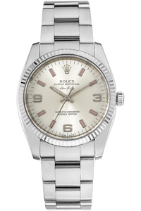 18K White Gold and Stainless Steel Air-King Automatic