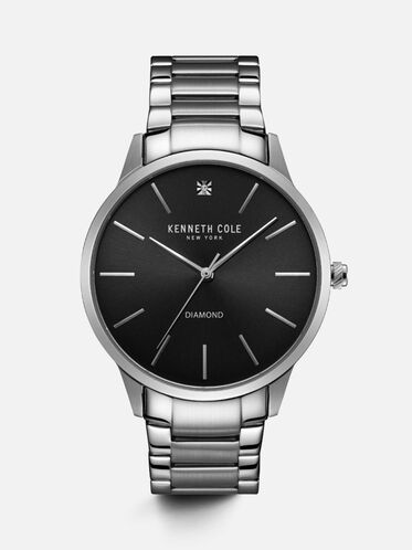 Silver-tone Stainless Steel Round Watch, NO COLOR