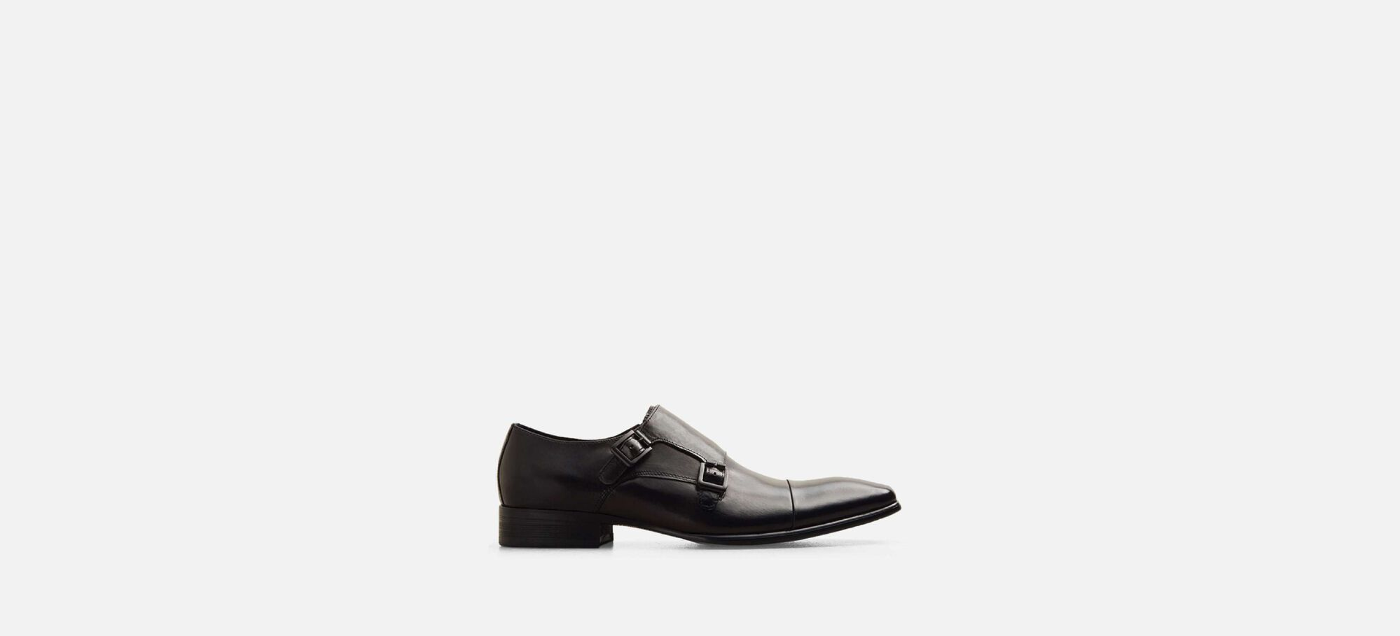 Regal Bearing Leather Monk Strap Dress Shoe,
