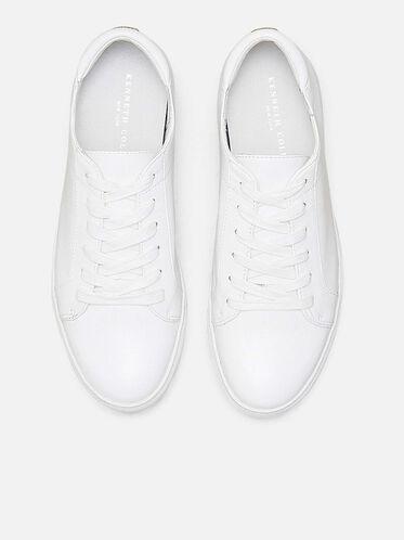 Kam Leather Sneaker, WHITE, hi-res