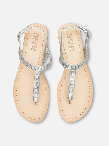 Just a Gal T-Strap Sandal, SILVER, hi-res