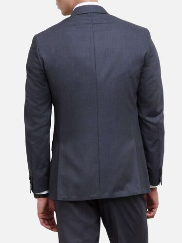 Slim-Fit Notch-Lapel Suit Jacket, 030GREY, hi-res
