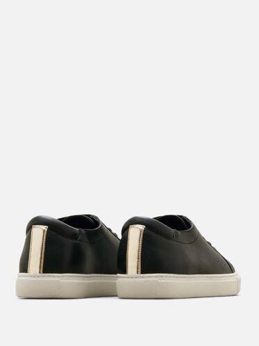 Kam Leather Sneaker, BLACK, hi-res