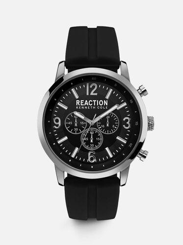 Multi-Functional Black Silicon Watch, NO COLOR