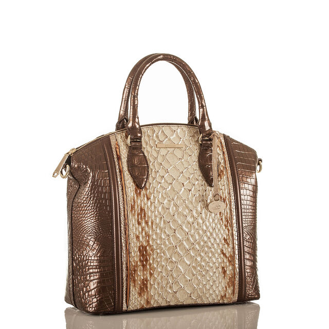 Large Duxbury Satchel Honey Carlisle, Honey, hi-res