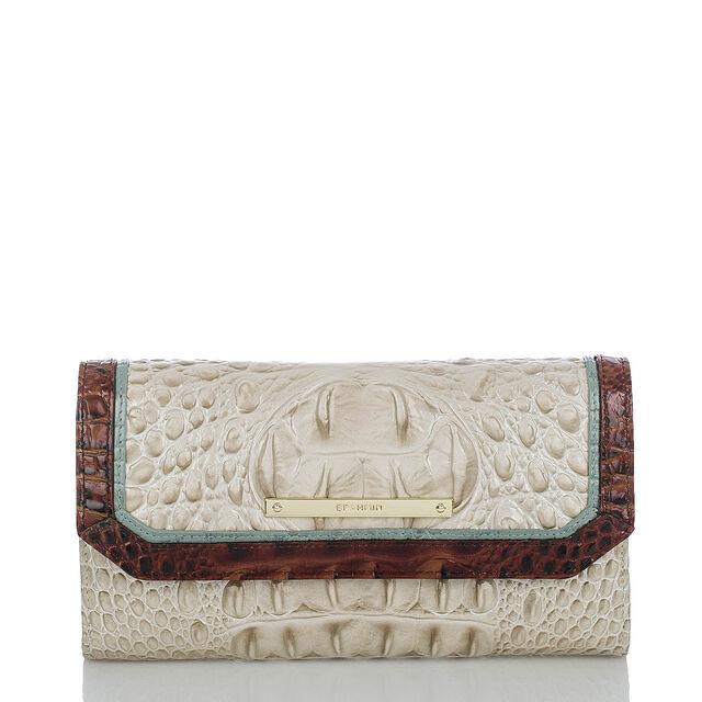 Soft Checkbook Wallet Linen Tri-Color, Linen, hi-res