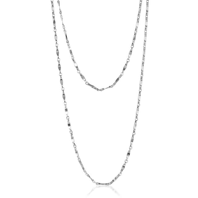 Endless Flat Bar Chain Rhodium Plated Providence, Rhodium Plated, hi-res