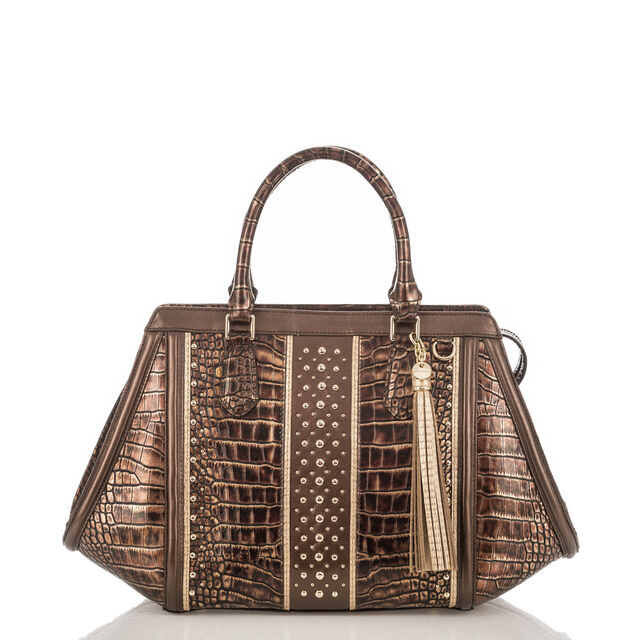 Arden Satchel Brown Milan, Brown, hi-res