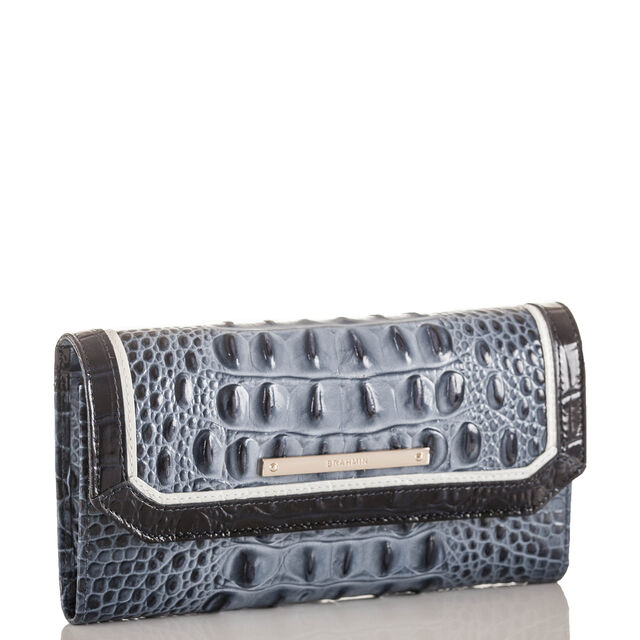 Soft Checkbook Wallet Denim Tri-Texture, Denim, hi-res